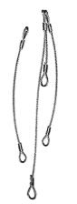 """""""Heavy Duty"""" Wire Rope Pulling Slings"""